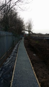 Footpath leading away from the new installation