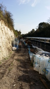 The narrowness of the site requires careful planning and organisation