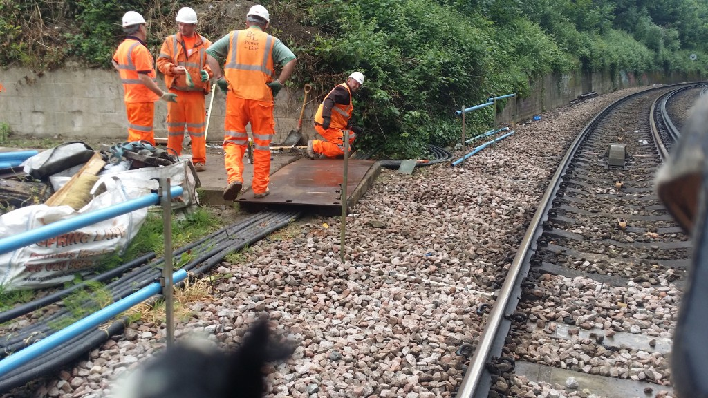 Steel road plates were used to protect the HV cables on site